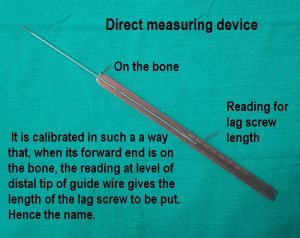 Direct measuring device