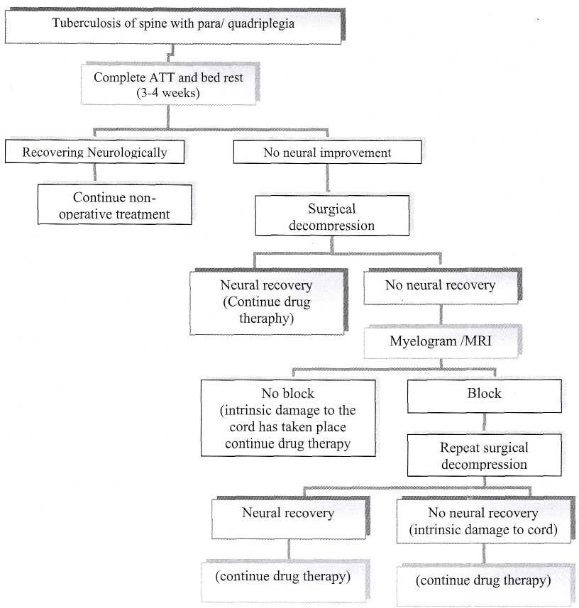 Treatment algorithm of Pott's paraplegia