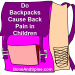 Do backpacks cause back pain children