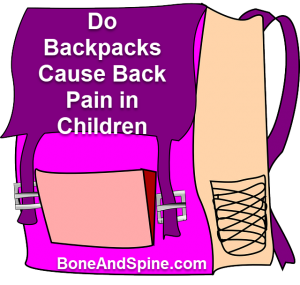 Backpacks and back pain- Do backpacks cause back pain children