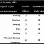 anterior knee pain scale