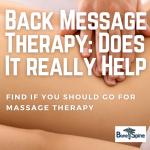 back massage effective